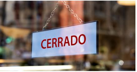 cartel de cerrado en la ventana de negocios, Prevención de problemas de alquiler durante la Coronavirus, arrendamiento comercial, renegociación de arrendamiento comercial, alquiler comercial